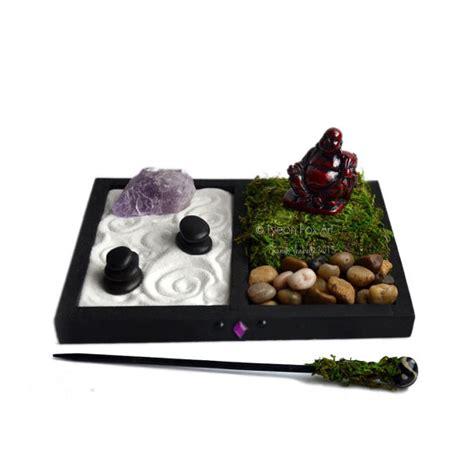 mini zen garden laughing buddha statue desk accessory