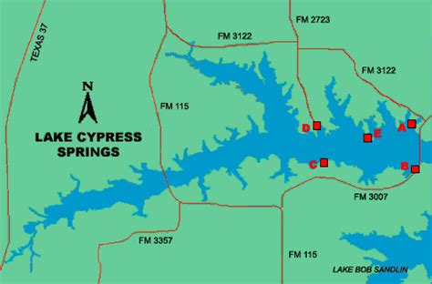 map of cypress texas access to lake cypress springs