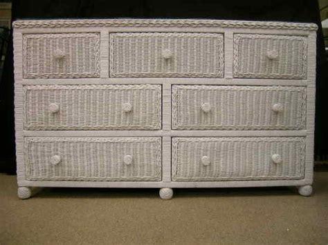 White Wicker Dresser by 758 White Wicker 7 Drawer Chest Dresser 1320637