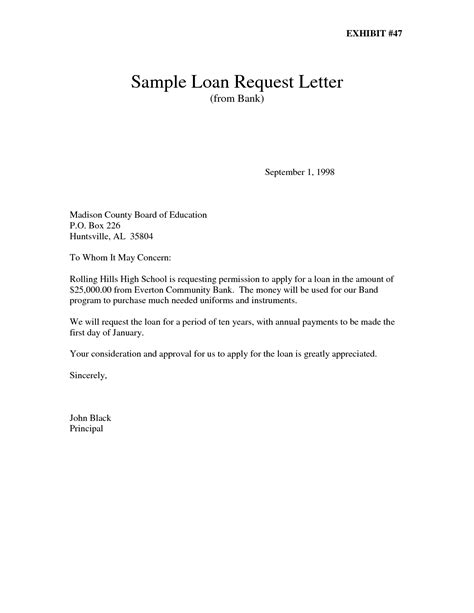 Bank Loan Letter Of Intent Loan Letter Sle The Best Letter Sle