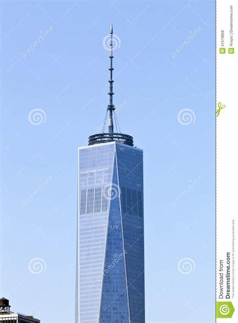 new york usa freedom tower with antenna stock photo image 51579858