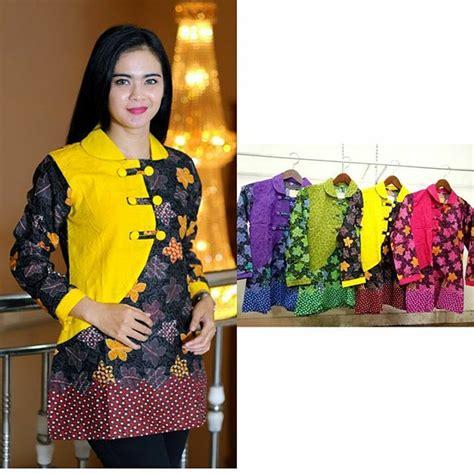 Baju Kerja Khusus Ibu jual baju batik blouse atasan baju kerja kantor batik wanita di lapak dafina collection