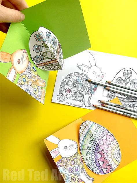 pop up easter card templates easy pop up easter card diy ted s