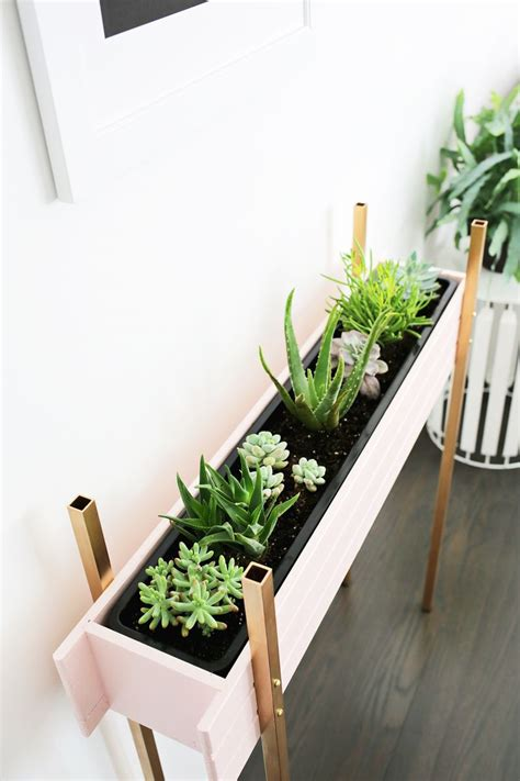 narrow window box planter planter stand diy a beautiful mess