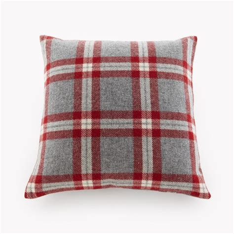 minnesota knitting mills and grey plaid pillow made in minnesota by faribault