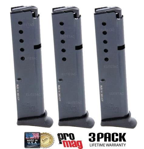 10 22 magazine floor 3 pack ruger lcp 380 acp magazine 10 promag w