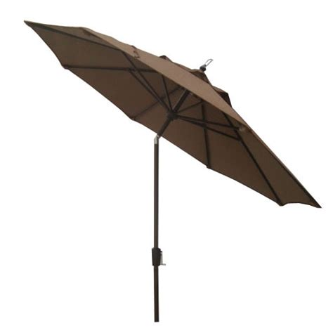 Lowes Patio Umbrellas Garden Treasures Herrington Acrylic Patio Umbrella Cast Stand At Lowes Umbrellas Furniture Outdoor
