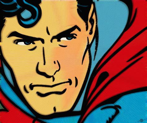 Paintings Home Decor by Superman Pop Painting By Tony Rubino