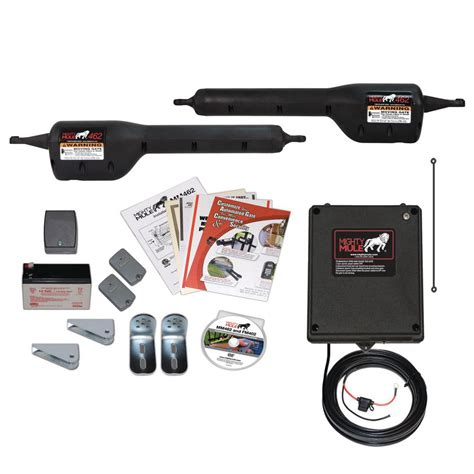 mighty mule gate opener mighty mule medium duty dual swing automatic gate opener mm462 the home depot