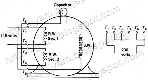 permanent capacitor run motor electrical circuit schematic diagram of permanent split capacitor motor technovation