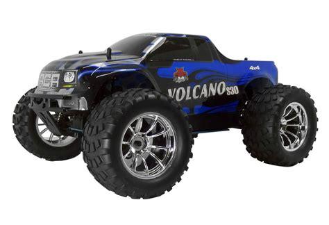 nitro rc monster truck for 1 10 volcano s30 redcat nitro rc truck 2 4ghz remote blue