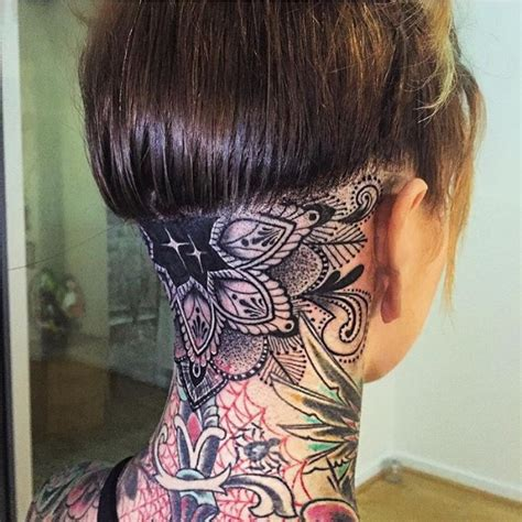 tattoo back of head 45 back of the neck tattoo designs meanings way to the