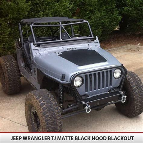 blackout jeep wrangler hood blackout vinyl decal for jeep wrangler tj 97 06