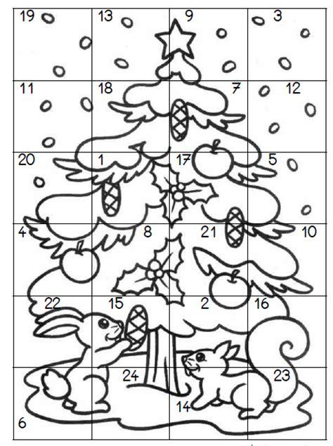 coloriage à dessiner de calendrier de noel a imprimer
