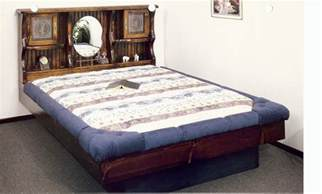 Waterbed Bed Frame Waterbed New Complete Hb Fr Deck Ped K King Pine