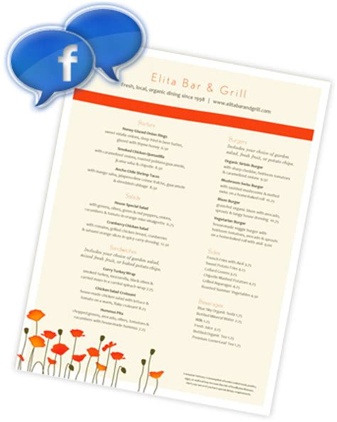 one page layout menu links four restaurant menu fails surefire fixes