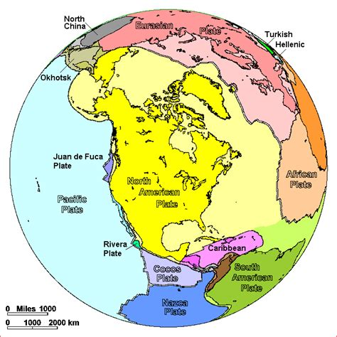 plate tectonics map american plate americas tectonics