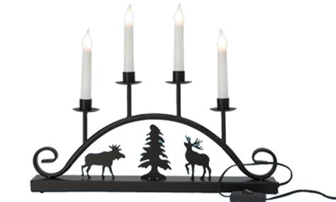 large silhouette christmas candle bridge welcome lights 44