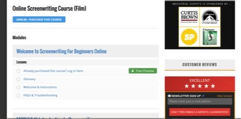 Industrial Scripts Screenwriting Course Review by How To Access Your Course Industrial Scripts 174 Screenwriting And Screenplay Consultants