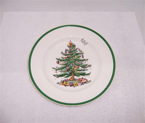 triple a resale 4 spode christmas tree dinner plates