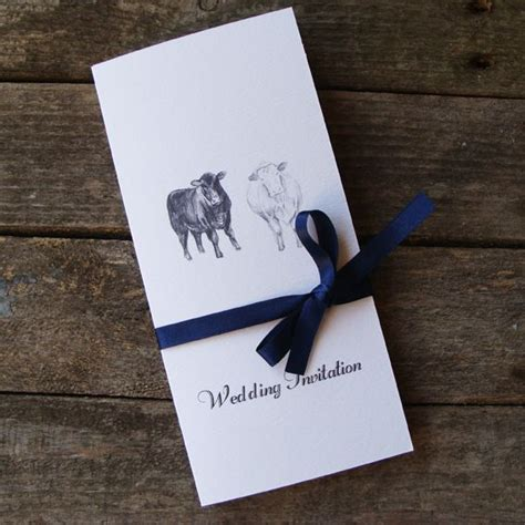 Farm Theme Wedding Invitations by A Bespoke Cow Wedding Invitation By Www Afarmersdaughter