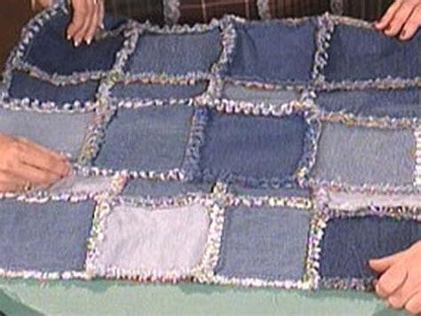 denim frayed edge quilt quilts