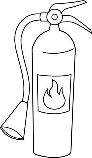fire extinguisher line art free clip art