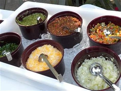 taco bar topping ideas taco party toppings food for a crowd pinterest