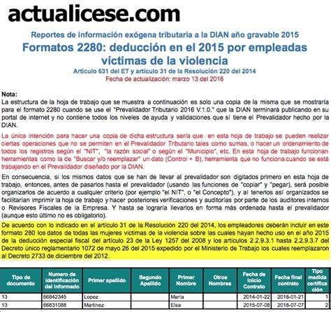 Nuevis Plazos Presentacion Informacion Exogena En Colombia Ai Gravable 2015 | resolucion informacion exogena 2015