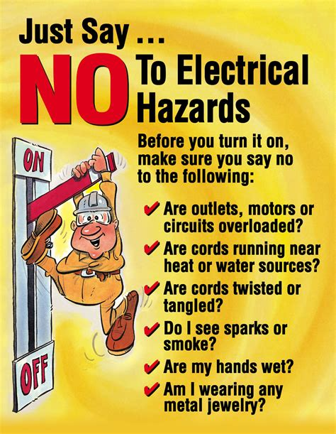 layout of the work space to prevent accidents and injuries electricity safety posters for kids google search