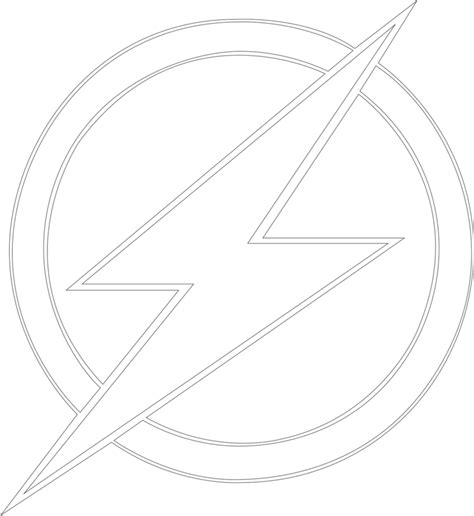 Flash Symbol Outline by The Gallery For Gt The Flash Logo Black And White