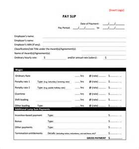 Payslip Templates by 6 Payslip Templates Word Excel Pdf Templates