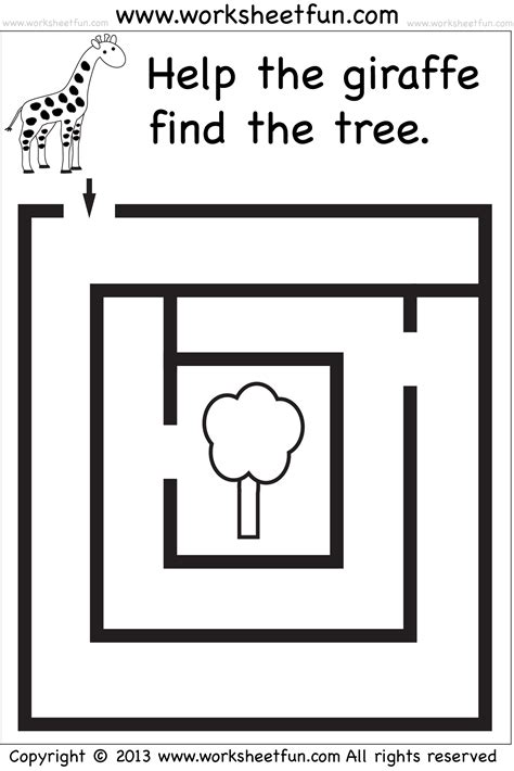 preschool printable worksheets beginner mazes preschool and kindergarten 6 worksheets free printable worksheets