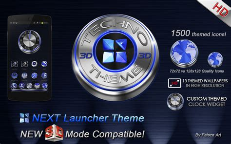 next launcher 3d themes apk next launcher theme techno 3d 1 3 apk android personalization apps