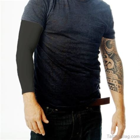 53 superb all black tattoos on arm