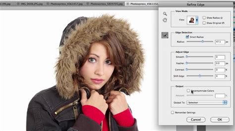 photoshop cs5 tutorial refine edge tool refine edge in photoshop cs5 iceflowstudios youtube