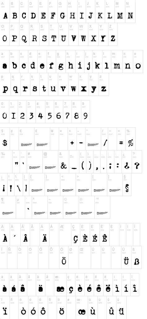 dafont typewriter old typewriter font dafont com