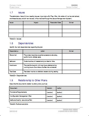 Test Plan Download Ms Word Excel Template Quiz Site Template