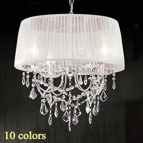 color chandelier 14 color lshade chandelier fabric lshade modern
