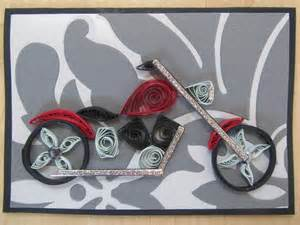 How To Make A Paper Bike Step By Step - quilling motorcycle bike harley quilling