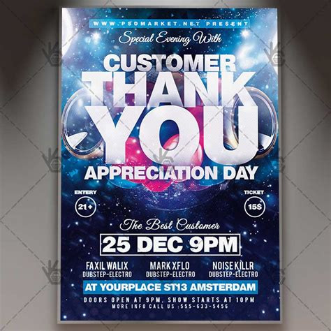customer appreciation day flyer template appreciation day business flyer psd template psdmarket