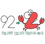 How To Draw Cartoon Crab From Numbers 92 Easy Step By