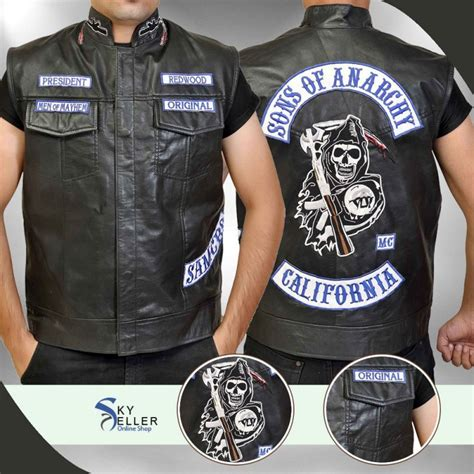 Sons Of Anarchy Motorrad by Sons Of Anarchy Jax Teller Motorcycle Vest With Patches S7