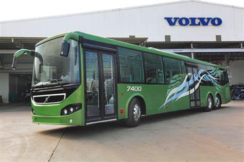 volvo in bangalore high capacity volvo 7400xl city trials commence in