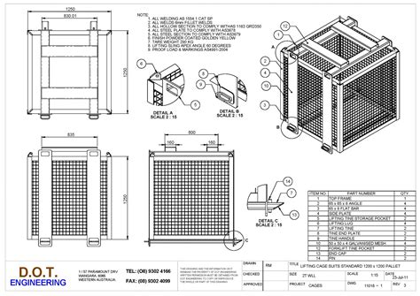 design lifting frame 2t pallet lifting cage 187 d o t engineering