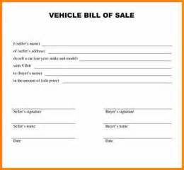simple bill of sale template 7 simple bill of sale for car mileage tracker form