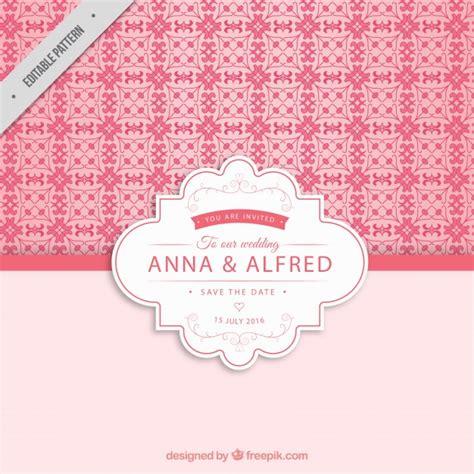 Hochzeitseinladungen Rosa by Rosa Hochzeitseinladung Muster Der Kostenlosen