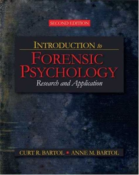 introduction to forensic psychology research and application books books about psychology covers 50 99