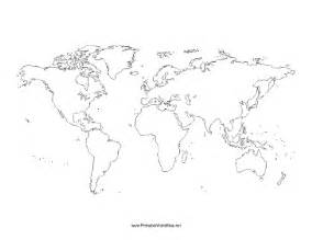 Blank Outline Map Of The World Printable by Blank World Map