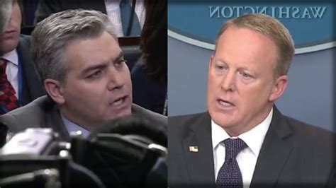 sean spicer no camera sean spicer got destroyed by cnn s jim acosta in a heated